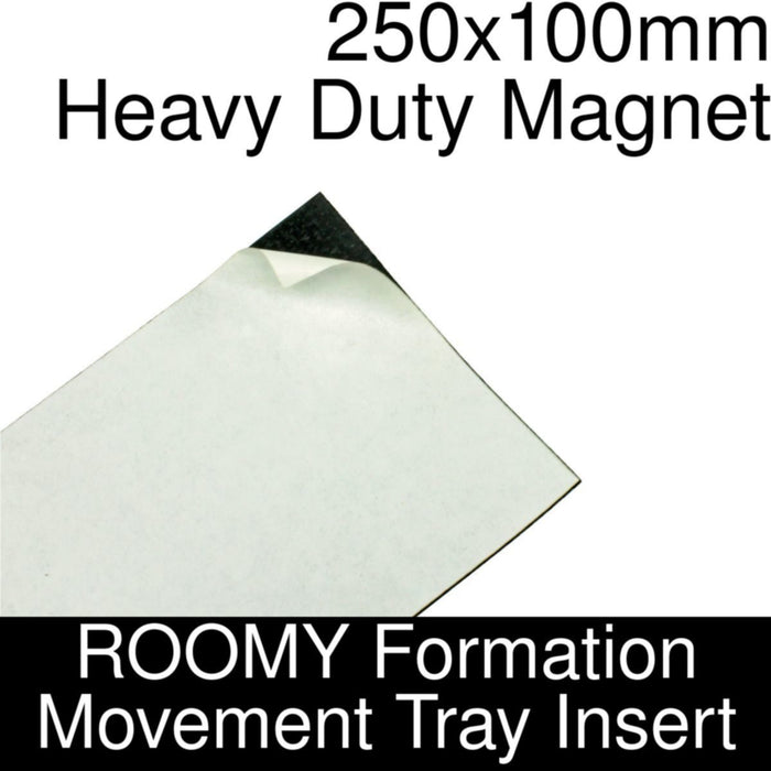 Formation Movement Tray: 250x100mm Heavy Duty Magnet Insert for ROOMY Tray - LITKO Game Accessories