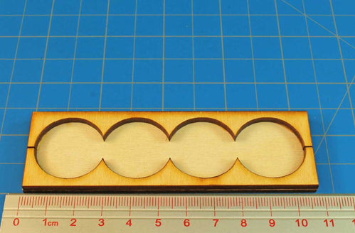 4x1 Formation Rank Tray for 25mm Circle Bases - LITKO Game Accessories
