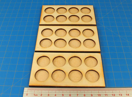 20mm Circle Base Ring War Infantry Tray (3) - LITKO Game Accessories