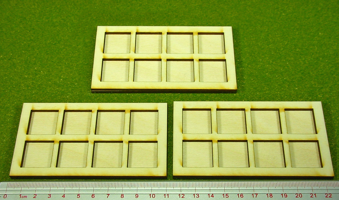 20mm Square Base Ring War Infantry Tray (3) - LITKO Game Accessories