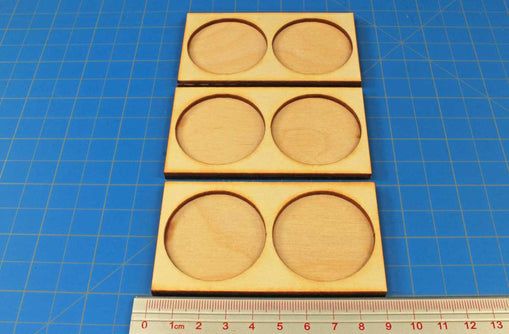 40mm Circle Bases Ring War Cavalry Tray (3) - LITKO Game Accessories