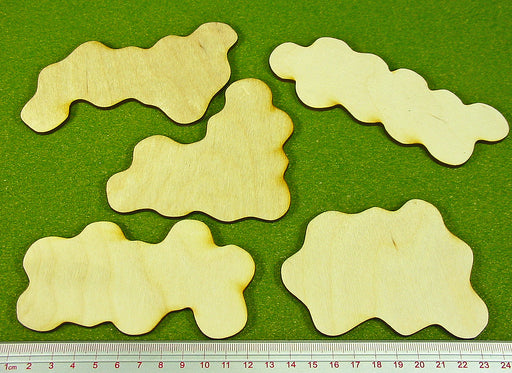 Terrain Bases, Set 2 (5) - LITKO Game Accessories