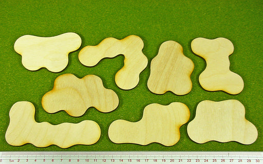 Terrain Bases, Set 3 (8) - LITKO Game Accessories