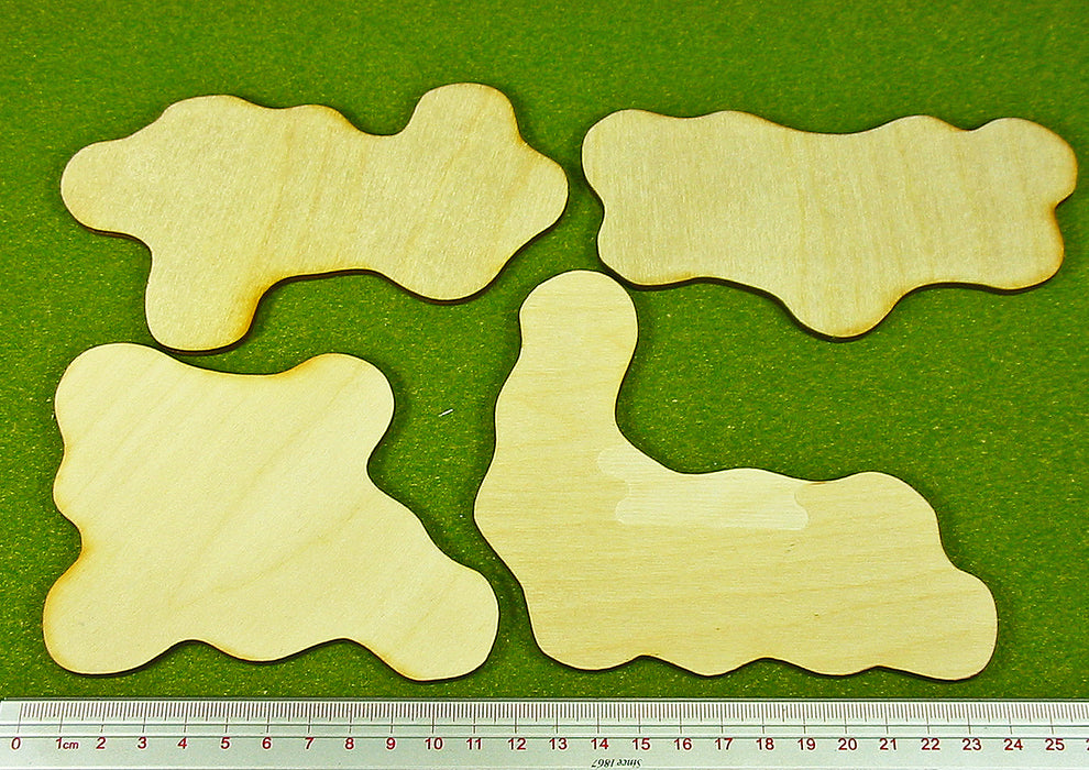 Terrain Bases, Set 4 (4) - LITKO Game Accessories