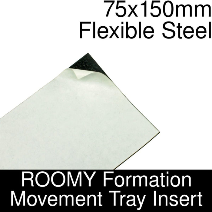 Formation Movement Tray: 75x150mm Flexible Steel Insert for ROOMY Tray - LITKO Game Accessories