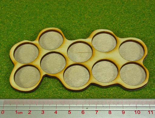 10-Figure 20mm Circle Horde Tray - LITKO Game Accessories