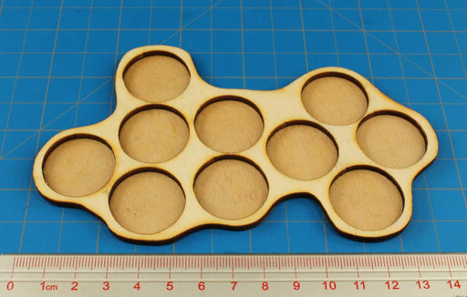 10-Figure 25mm Circle Horde Tray - LITKO Game Accessories