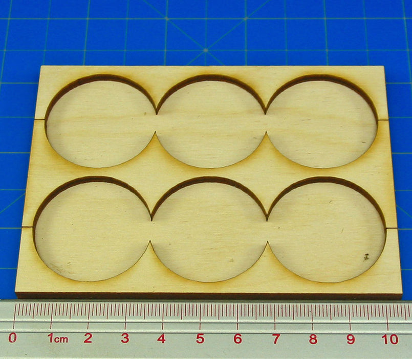 3x2 Formation Rank Tray for 32mm Circle Bases - LITKO Game Accessories