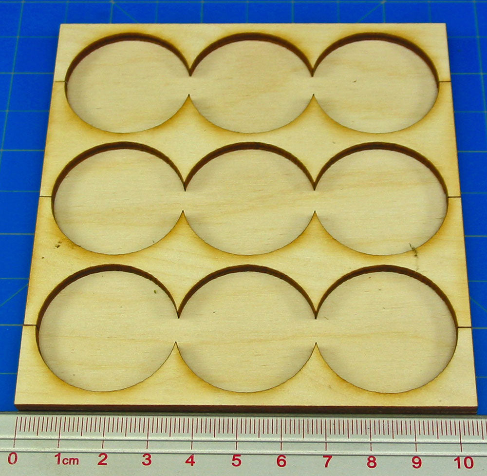3x3 Formation Rank Tray for 32mm Circle Bases - LITKO Game Accessories