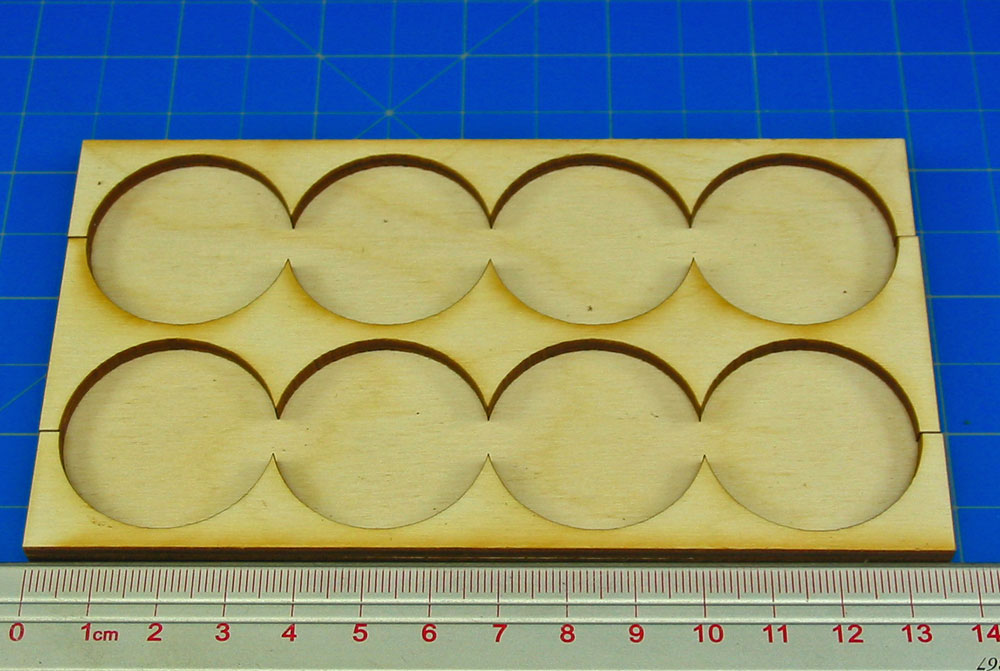4x2 Formation Rank Tray for 32mm Circle Bases - LITKO Game Accessories