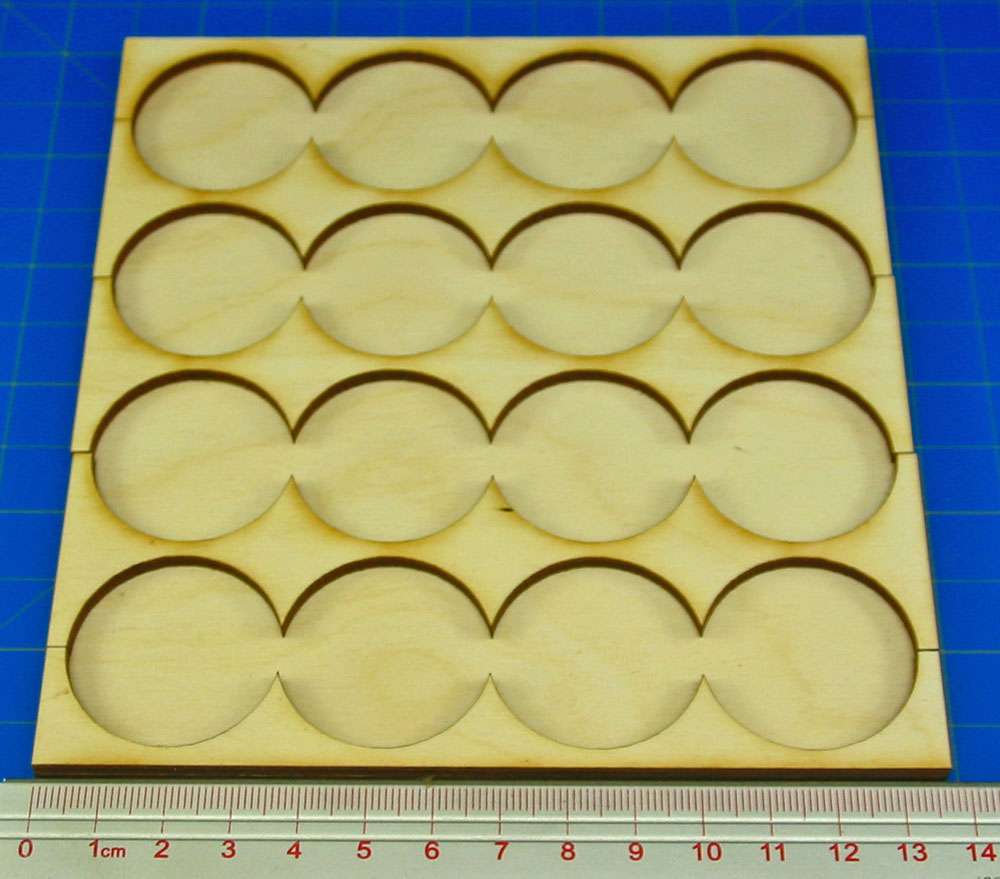 4x4 Formation Rank Tray for 32mm Circle Bases - LITKO Game Accessories