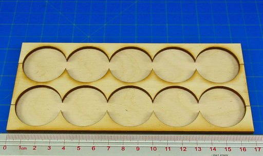 5x2 Formation Rank Tray for 32mm Circle Bases - LITKO Game Accessories