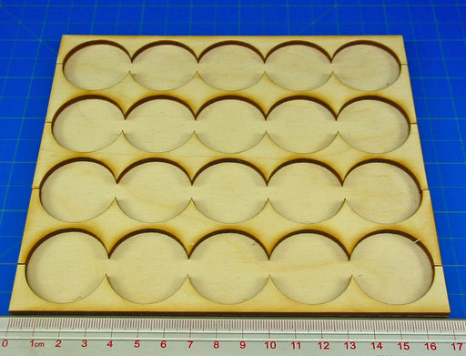 5x4 Formation Rank Tray for 32mm Circle Bases - LITKO Game Accessories