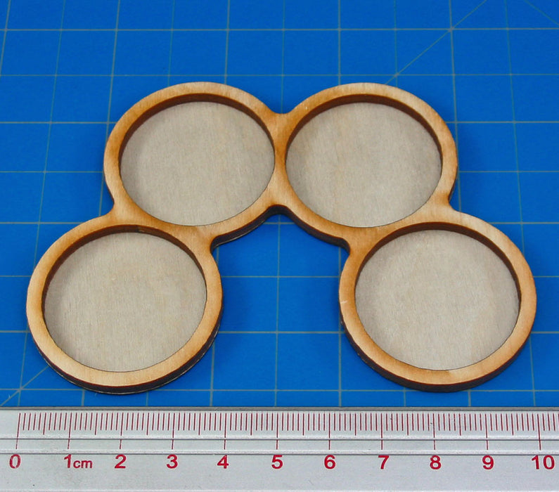4-Figure 32mm Circle Horde Tray - LITKO Game Accessories