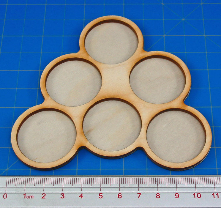 6-Figure 32mm Circle Horde Tray - LITKO Game Accessories