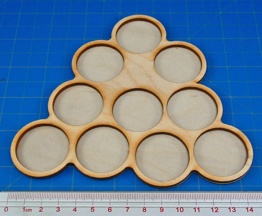 10-Figure 32mm Circle Horde Tray - LITKO Game Accessories