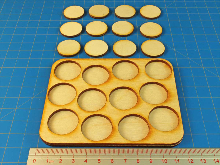 4x3 Formation 25mm Circle Base Skirmish Tray - LITKO Game Accessories