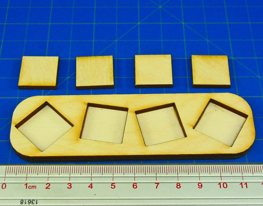 4x1 Formation Skirmish Tray for 20mm Square Bases - LITKO Game Accessories
