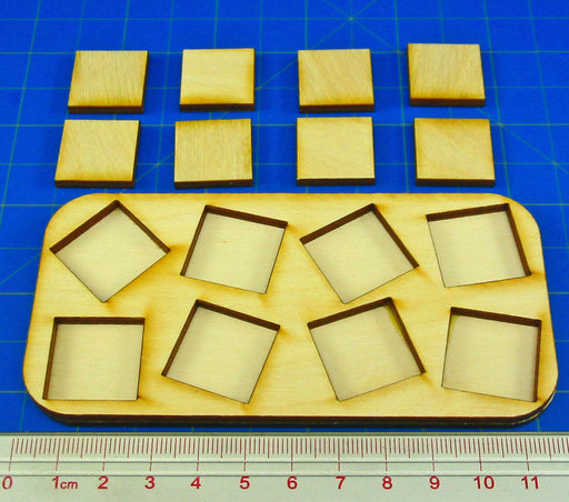 4x2 Formation Skirmish Tray for 20mm Square Bases - LITKO Game Accessories
