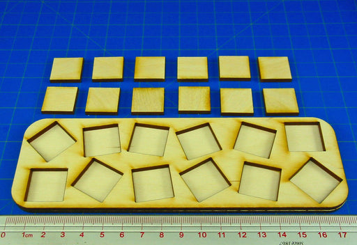 6x2 Formation Skirmish Tray for 20mm Square Bases - LITKO Game Accessories