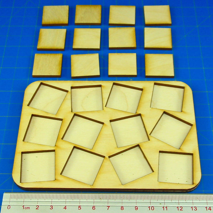 4x3 Formation 25mm Square Base Skirmish Tray - LITKO Game Accessories