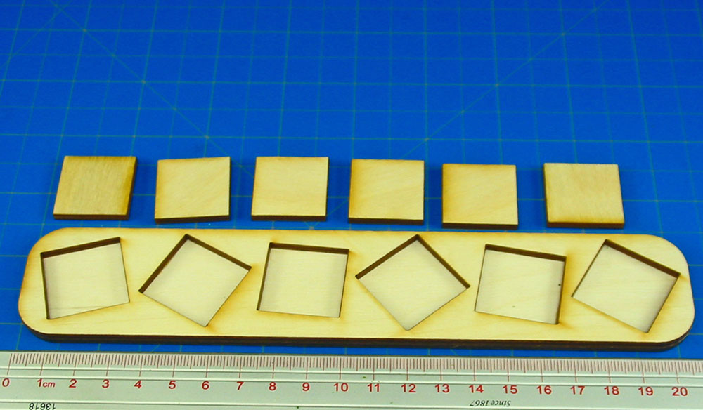 6x1 Formation 25mm Square Base Skirmish Tray - LITKO Game Accessories