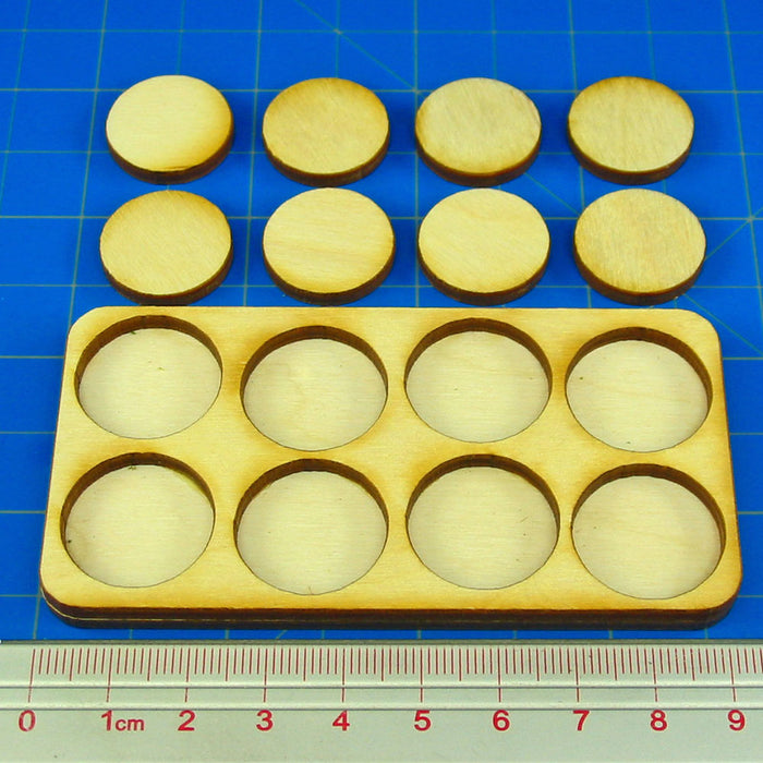 4x2 Formation 20mm Circle Base Skirmish Tray - LITKO Game Accessories