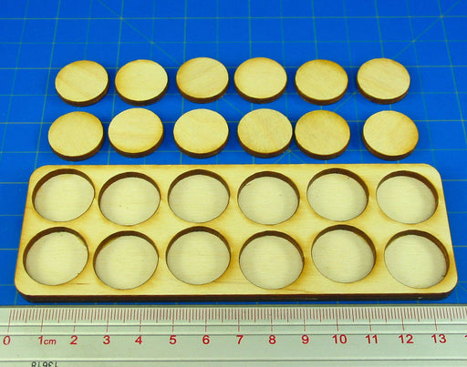 6x2 Formation Skirmish Tray for 20mm Circle Bases - LITKO Game Accessories