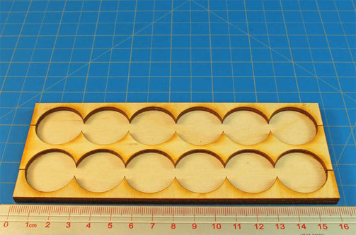 6x2 Formation Rank Tray for 25mm Circle Bases - LITKO Game Accessories