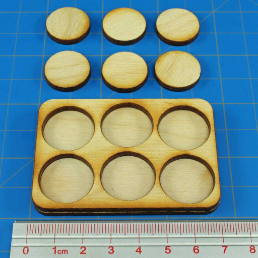 3x2 Formation Skirmish Tray for 20mm Circle Bases - LITKO Game Accessories