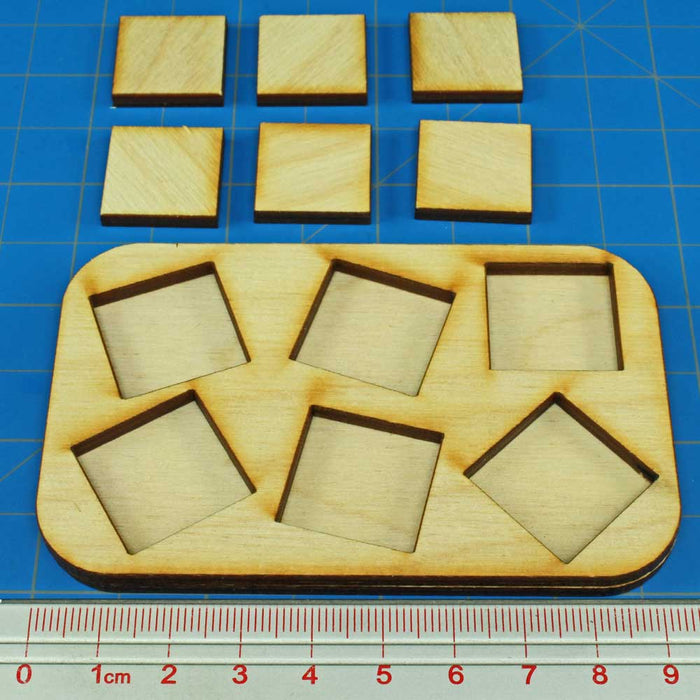 3x2 Formation 20mm Square Base Skirmish Tray - LITKO Game Accessories