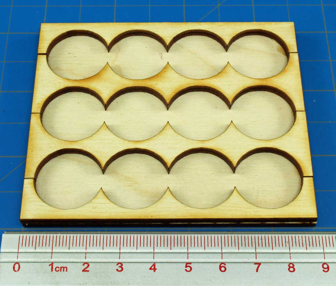 4x3 Formation Rank Tray for 20mm Circle Bases - LITKO Game Accessories