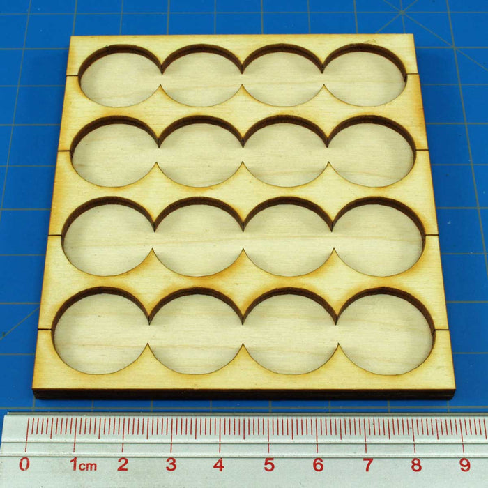 4x4 Formation 20mm Circle Rank Tray - LITKO Game Accessories