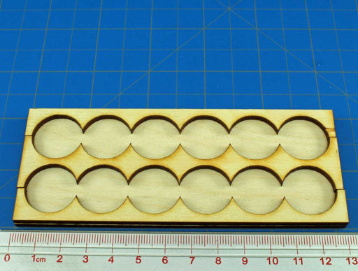 6x2 Formation Rank Tray for 20mm Circle Bases - LITKO Game Accessories