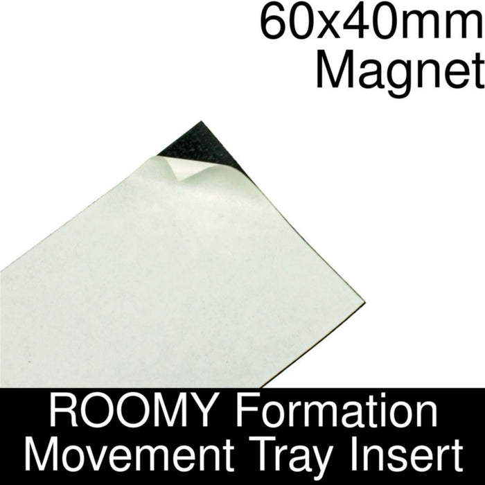 Formation Movement Tray: 60x40mm Magnet Insert for ROOMY Tray - LITKO Game Accessories