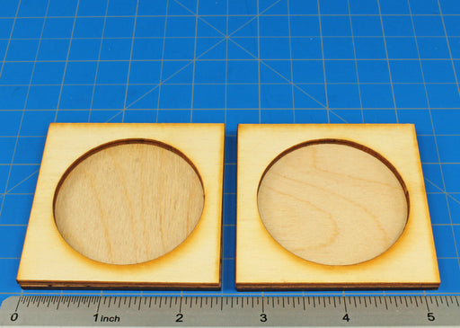 1-Figure 50mm Circle Base Rune Battles Proxy Movement Trays (2) - LITKO Game Accessories