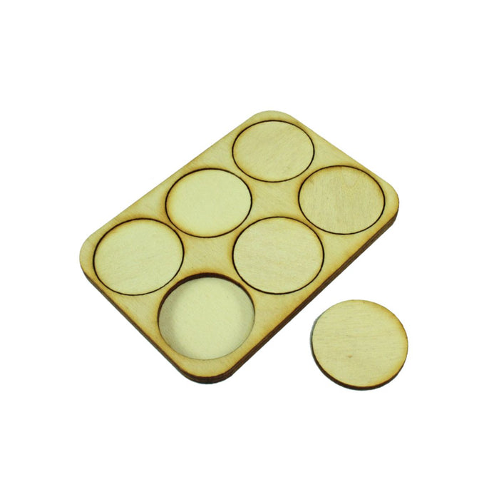3x2 Formation Skirmish Tray for 32mm Circle Bases - LITKO Game Accessories