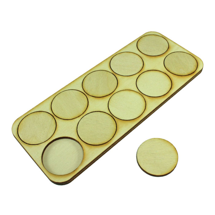 5x2 Formation 32mm Circle Base Skirmish Tray - LITKO Game Accessories