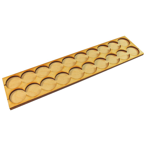 10x2 Formation Rank Tray for 25mm Circle Bases - LITKO Game Accessories
