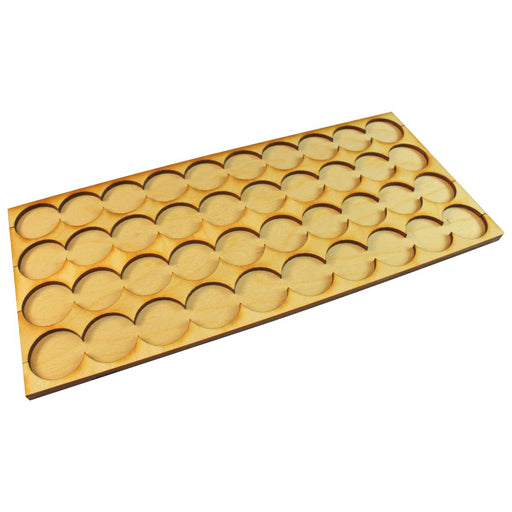10x4 Formation Rank Tray for 25mm Circle Bases - LITKO Game Accessories