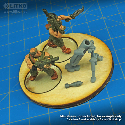 LITKO Heavy Weapon Team Trays (4) - LITKO Game Accessories