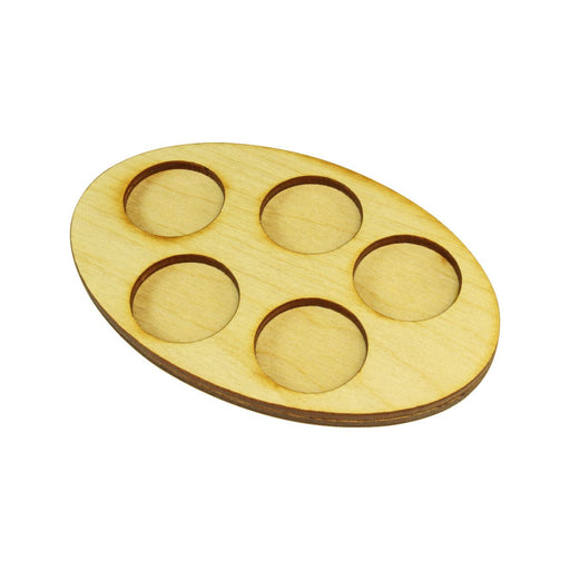LITKO 72x110mm Oval Squad Tray for 5-25mm Circle Bases - LITKO Game Accessories