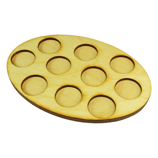 LITKO 104x152mm Oval Squad Tray for 10-25mm Circle Bases - LITKO Game Accessories