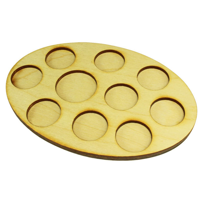 LITKO 104x152mm Oval Command Tray for 9-25mm & 1-32mm Circle Bases - LITKO Game Accessories