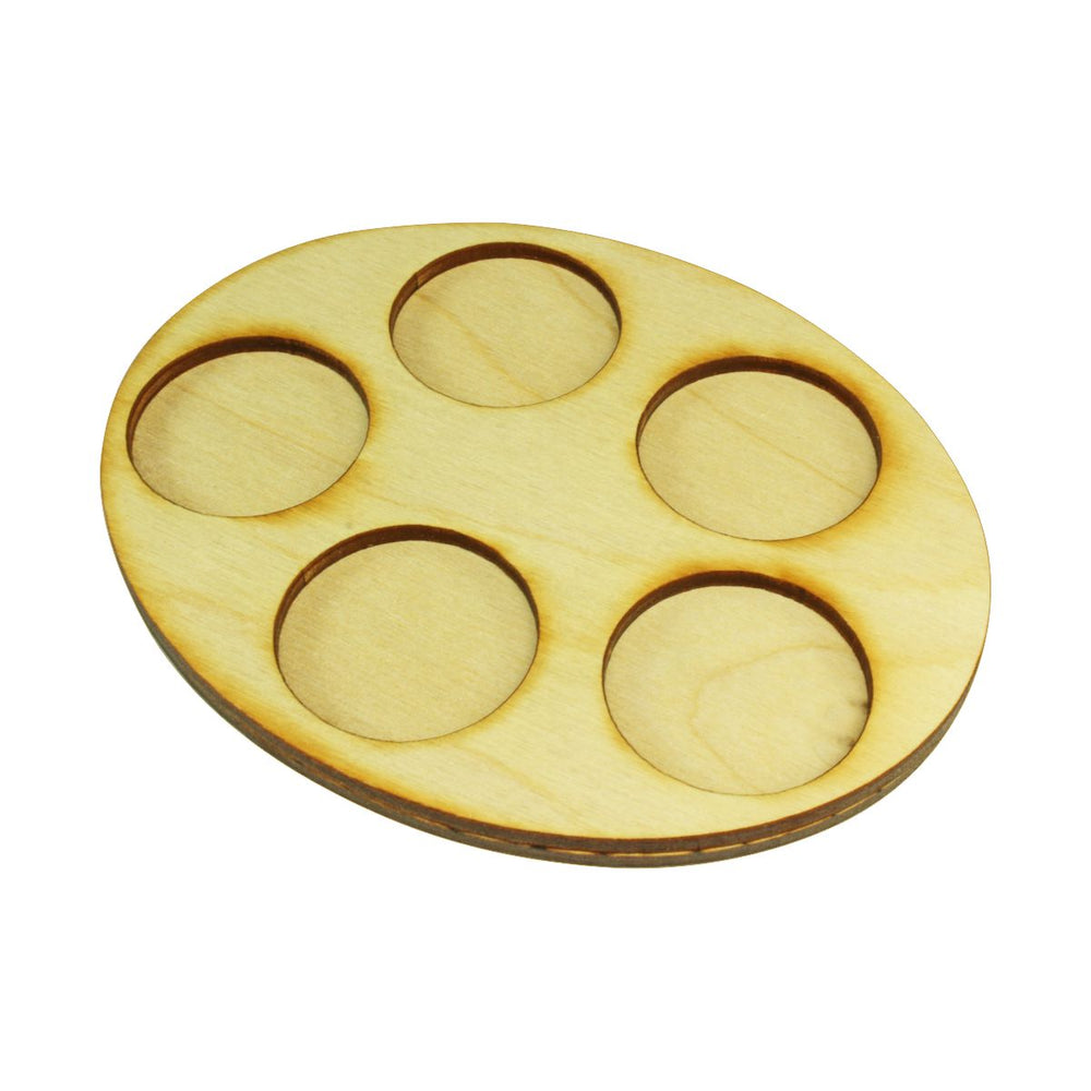 LITKO 97x122mm Oval Squad Tray, 5-32mm Circle Bases - LITKO Game Accessories