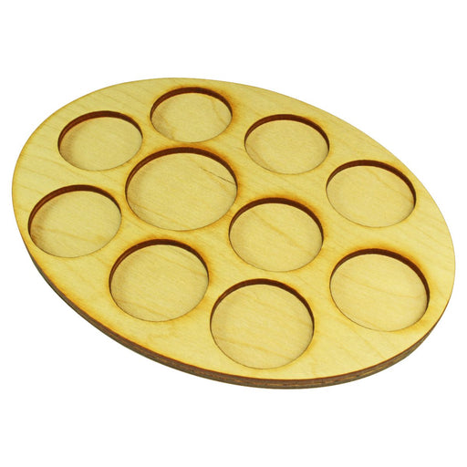 LITKO 126x167mm Oval Command Tray for 9-32mm & 1-40mm Circle Bases - LITKO Game Accessories