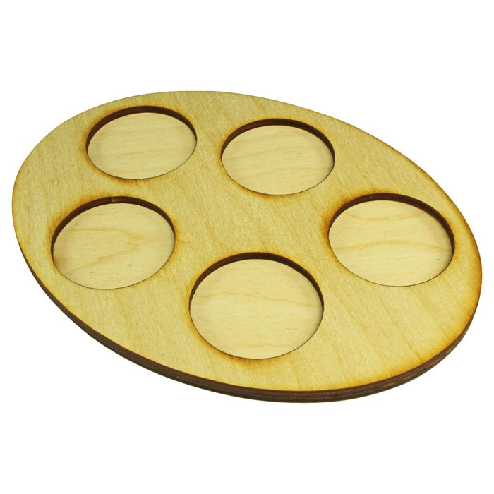 LITKO 126x167mm Oval Squad Tray for 5-40mm Circle Bases - LITKO Game Accessories