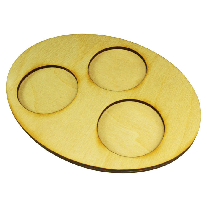 LITKO 126x167mm Oval Squad Tray for 3-50mm Circle Bases - LITKO Game Accessories