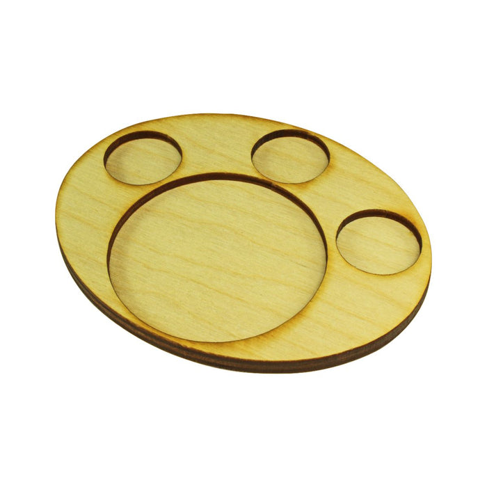 LITKO 97x122mm Oval Support Tray for 3-25mm 1-65mm Circle Bases - LITKO Game Accessories