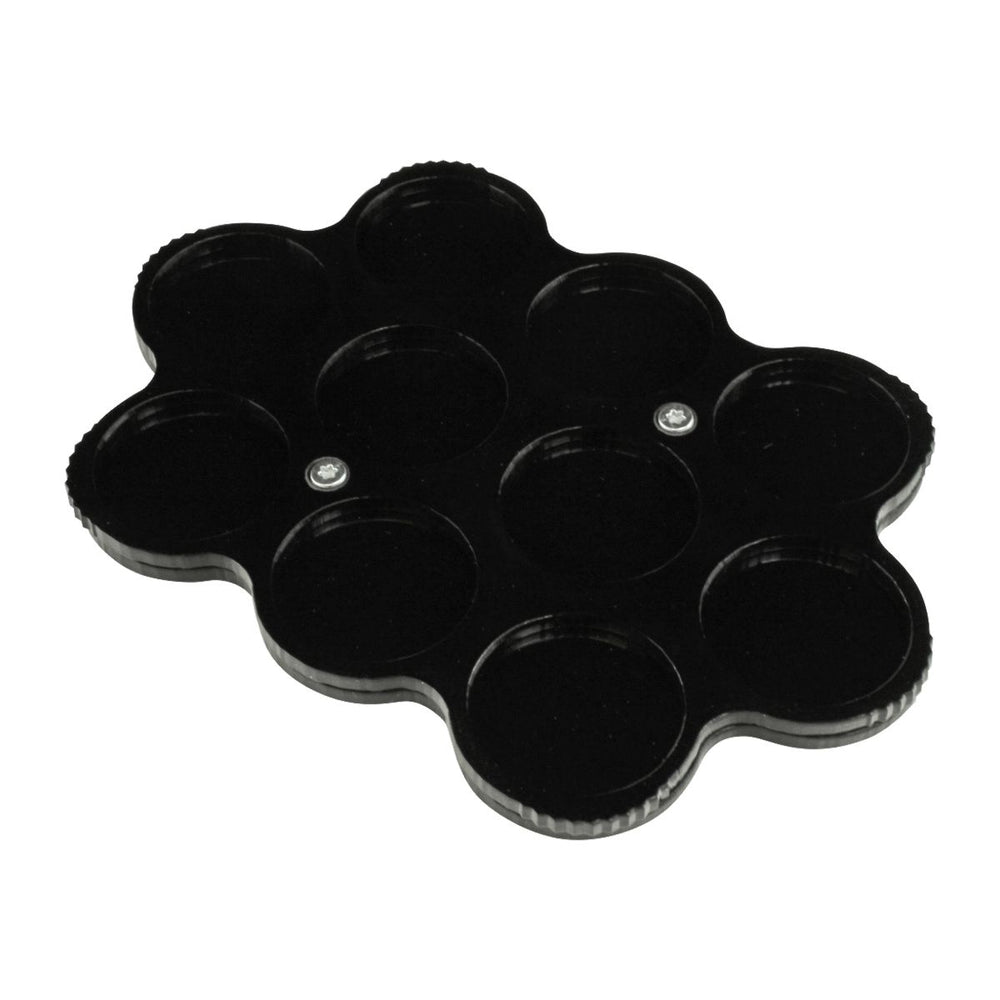 LITKO 10-Figure 25mm Circle Display Tray, Black - LITKO Game Accessories